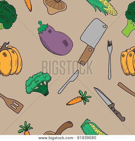 texture with vegetables