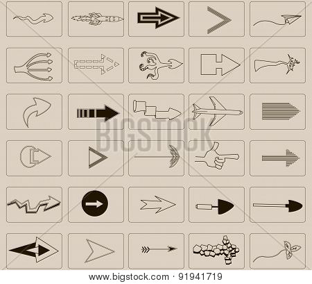 arrows and icons