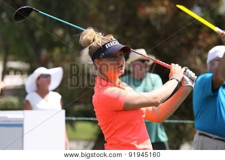 Charley Hull At The Ana Inspiration Golf Tournament 2015
