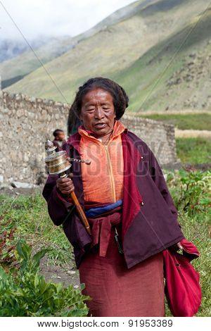Ngakpa woman, Nepal