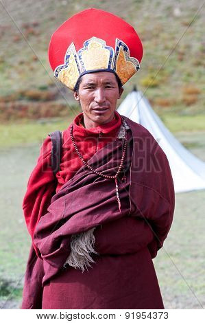 Buddhist Monk In Dolpo, Nepal