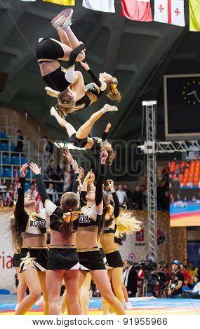 Acrobatic Cheerleaders
