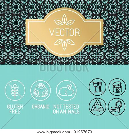 Vector Design Elements In Trendy Linear Style