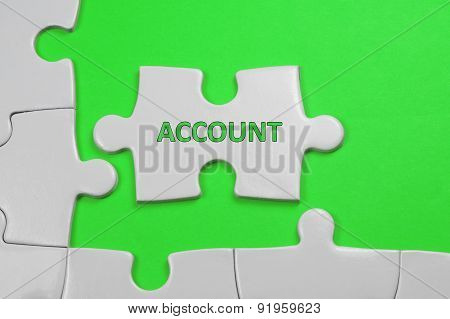Account Text - Business Concept