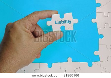 Liability Text - Business Concept