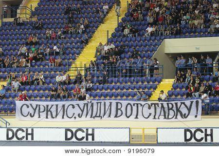 Fans Deployed Banner During Metalist Vs. Krivbass