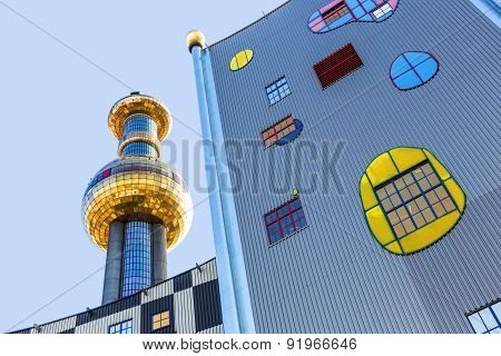 Tower Of Garbage-processing Plant In Vienna, Austria