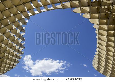 Texture Graphic Detail Of Metropol Parasol In Plaza De La Encarnacion On 31 Of May 2014 In Seville