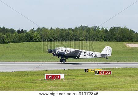 Junkers Ju-52  At Take Off In Hamburg
