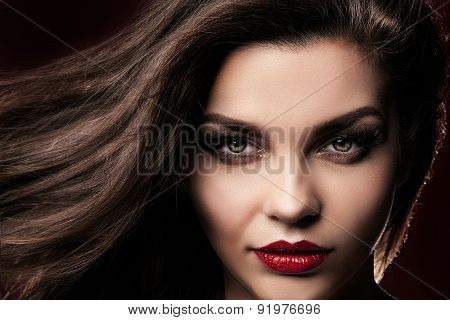 Beauty Portrait Of Elegant Woman.