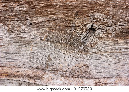 Old Wooden Plank Close Up