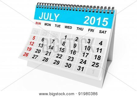 Calendar July 2015