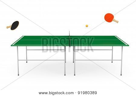 Ping-pong Tennis Table With Paddles