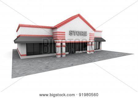 3D Large Store Building