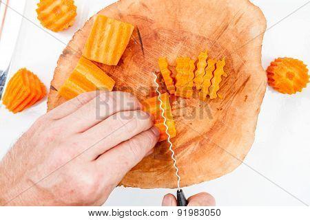 Cutting A Carrot