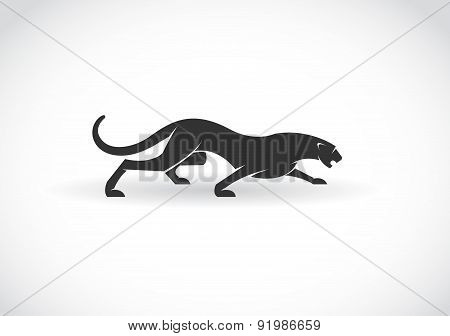 Vector Image Of An Panther  On A White Background