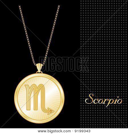 Scorpio Medallion