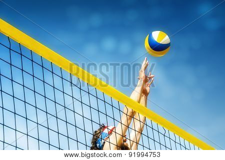 Beachvolleyball Player Net