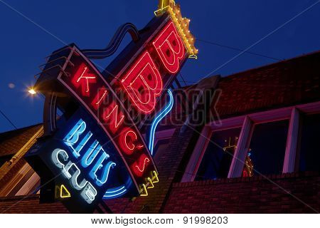 Memphis, City Neon Lights On Beale Street