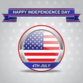 Fourth Of July American Independence Day Card poster
