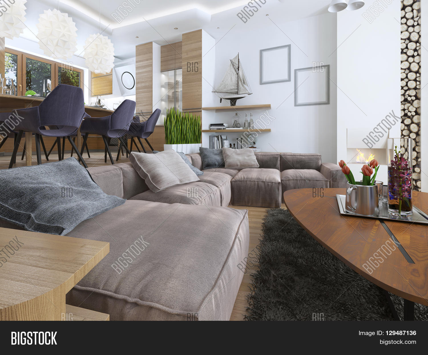 Modern Living Room Image & Photo (Free Trial)  Bigstock