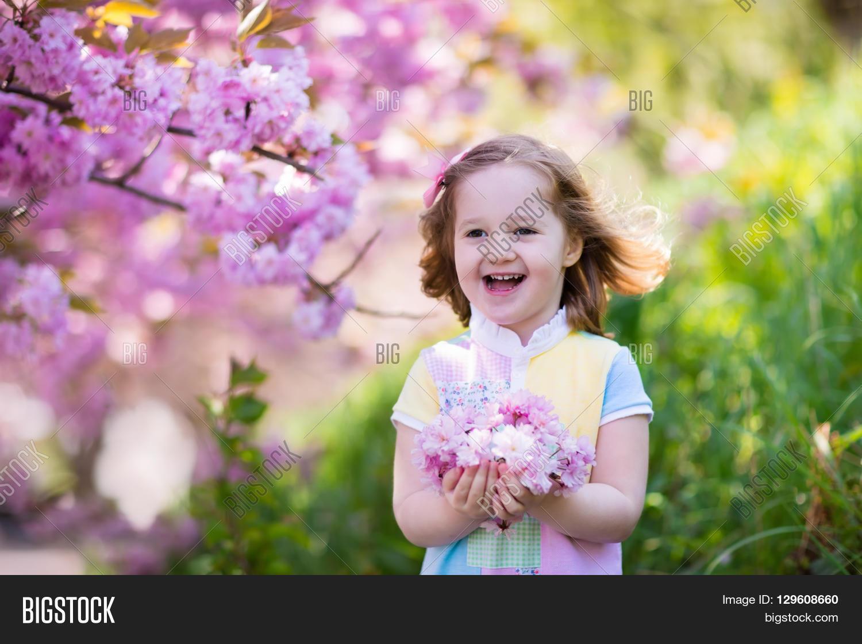 Little Happy Girl Image Photo Free Trial Bigstock