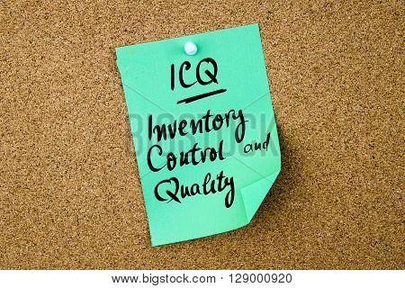 Business Acronym Icq Inventory Control And Quality