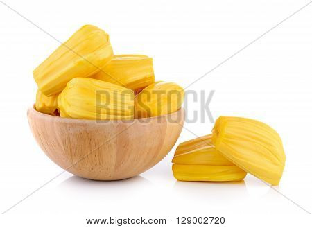 A Jackfruit is on the white background