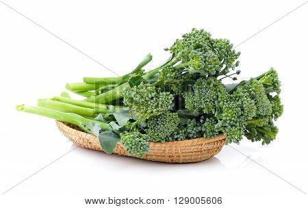 A flesh Broccoli are in the basket