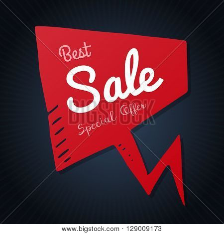 Vector best sale special offer text on speech bubble