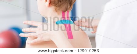 Physio Tapes On Child