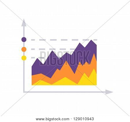 Financial growth coin stock market. Successful graph of profit growth and cash investments in startups. Metaphor of the plants sprout in the column of gold coins. Invest progress vector illustration