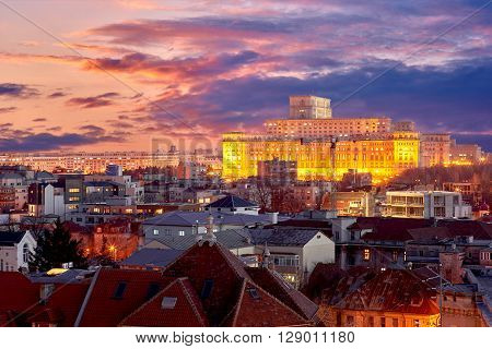 Bucharest Aerial View