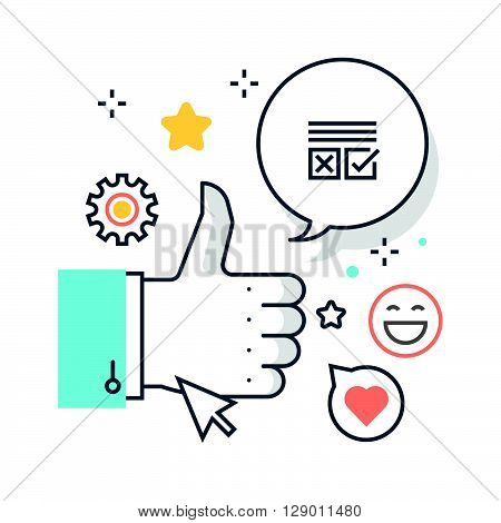 Social campaign concept illustration icon background and graphics. The illustration is colorful flat vector pixel perfect suitable for web and print. It is linear stokes and fills.