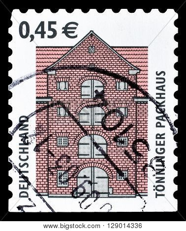GERMANY - CIRCA 2002 : Cancelled postage stamp printed by Germany, that shows Tönning Packing House.