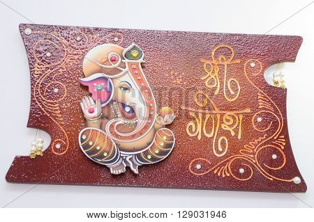Wooden Frame Of Lord Ganesha  Shree Ganesh