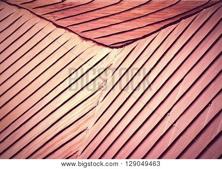 abstract background or texture retro red roof skived of steel sheet