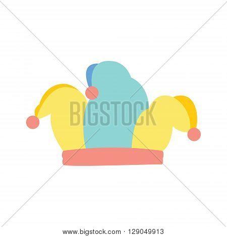 Jester hat joker colorfull hat with pom-poms