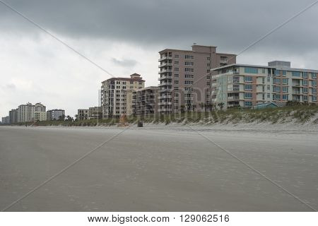 JACKSONVILLE BEACH, FL- MAY 4, 2016: No body in Storm weather day on  Jacksonville Beach.