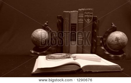 Globe Bookends