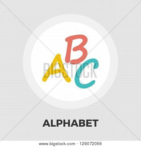 Alphabet icon vector. Flat icon isolated on the white background. Editable EPS file. Vector illustration.