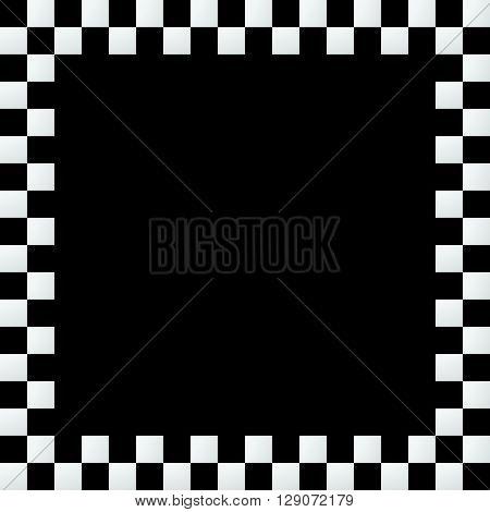 Empty Squarish Checkered Frame, Border