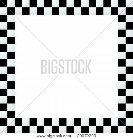 Empty Squarish Checkered Frame, Border