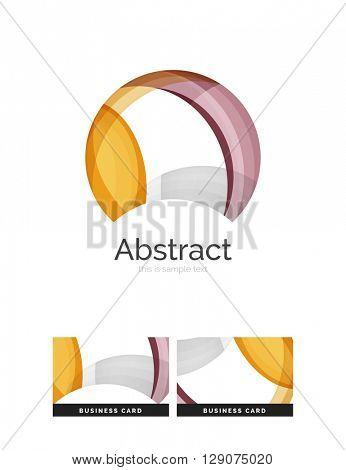 Circle logo. Transparent overlapping swirl shapes. Modern clean business icon. Vector illustration.