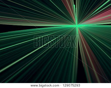 Abstract bright rays background - computer-generated image. Simple modern background - rays emanating from the center. Fractal artwork for banners, posters, web design