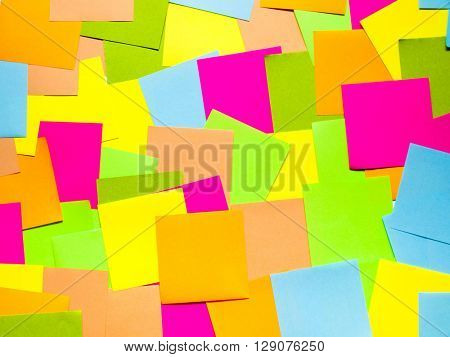 Colored paper for notes