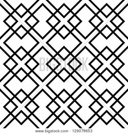 Geometric Grid, Mesh Pattern With Intersecting Lines