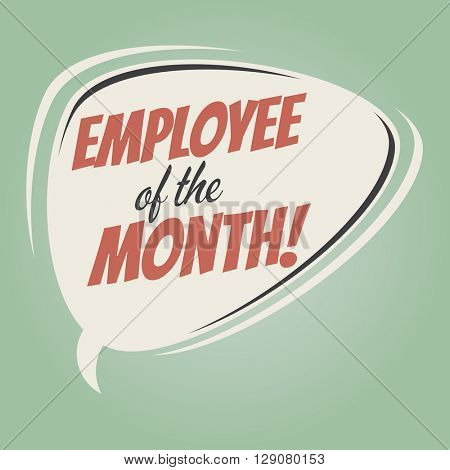 employee of the month retro speech bubble