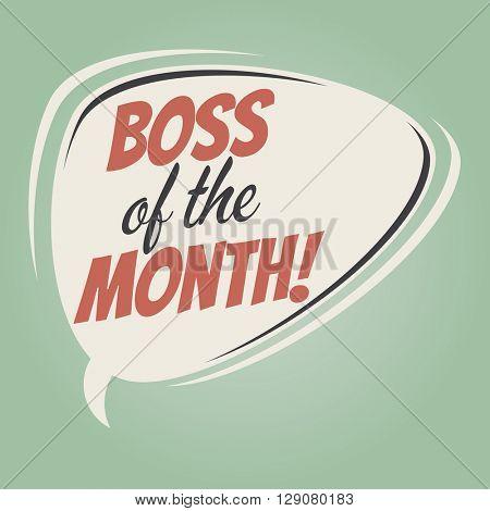 boss of the month retro speech bubble