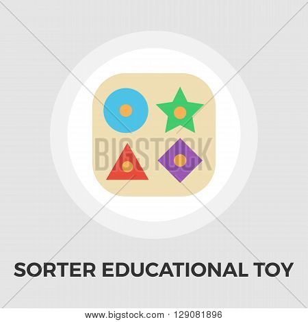 Sorter educational toy icon vector. Flat icon isolated on the white background. Editable EPS file. Vector illustration.